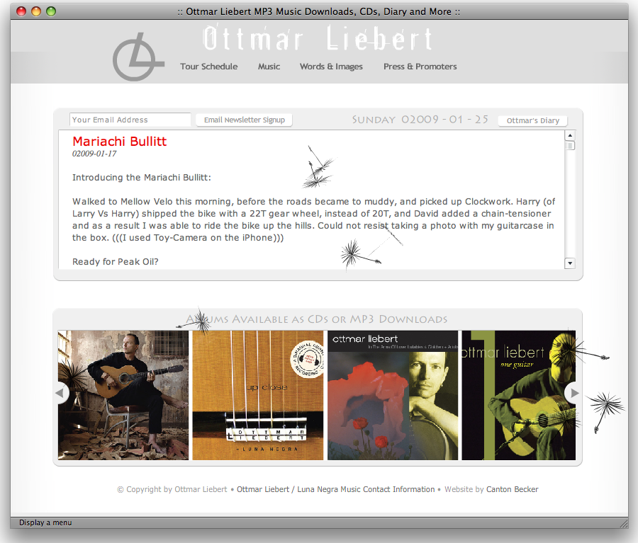 Ottmar Liebert's Redesign