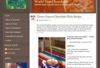 Drinking chocolate recipes and building a site in 4-hours