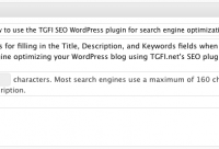 Using the TGFI SEO plugin for WordPress