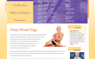 Website Redesign for Unity Woods Yoga