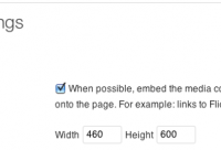 How to change the width of an automatic WordPress embed