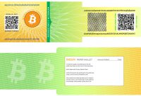 Bitcoin Paper Wallet Design