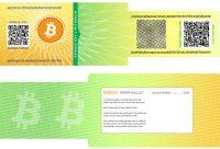 Bitcoin Paper Wallet Design