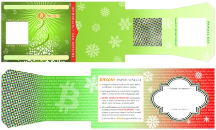 holiday themed bitcoin paper wallet for christmas new years canton becker. Black Bedroom Furniture Sets. Home Design Ideas