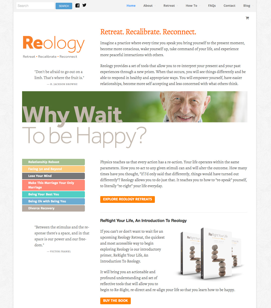 Mobile responsive website design for Reology.org