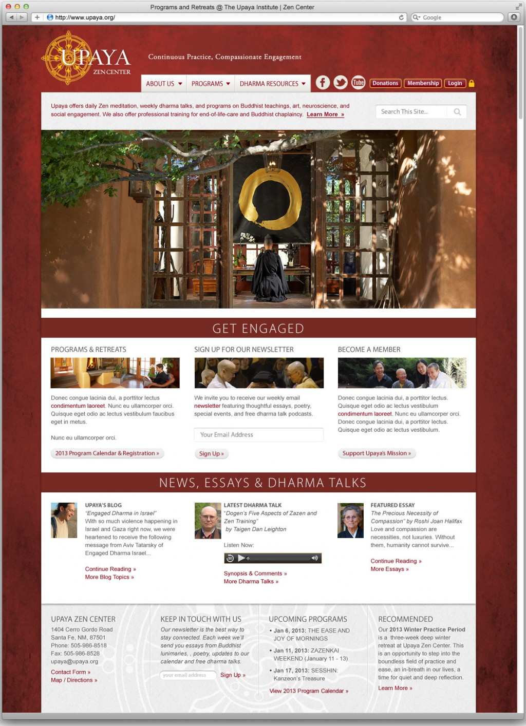The 2014 redesign for www.upaya.org