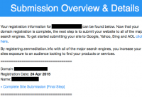 pureregistration.com / domainsubmission.club is a Scam. Ignore their emails.