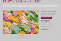 Jim Rabby Gallery: Elegant & easy-to-edit artist website