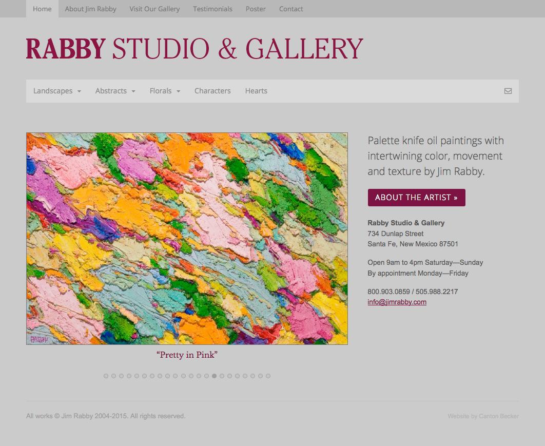 Jim Rabby Gallery: Elegant & easy-to-edit artist website