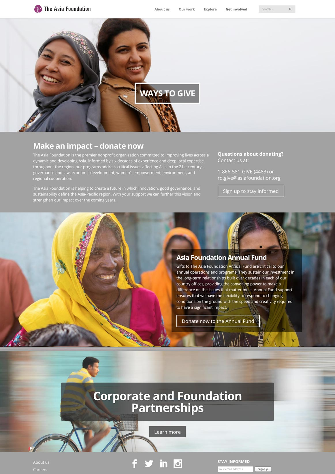 The Asia Foundation's 2016 Redesign