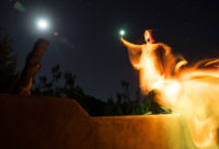 """""""Light Painting"""" for a spooky Halloween self-portrait"""